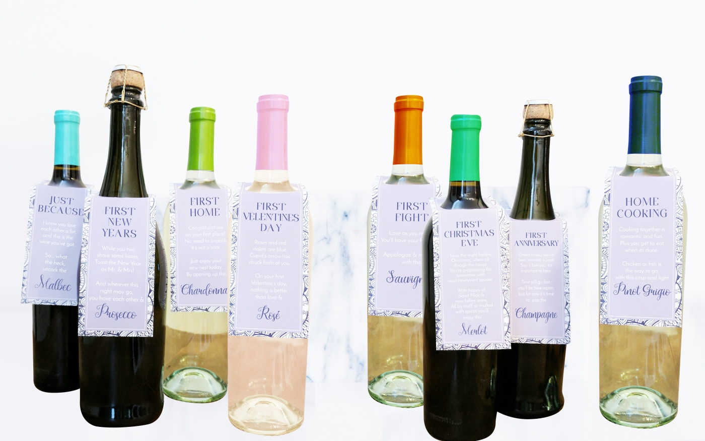Wine Tags – Intwined Wedding